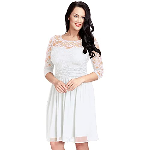 Plus Size Lace White Dress Amazon