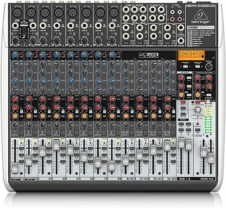 MESA MEZCLAS XENYX QX2222USB: Amazon.es: Instrumentos musicales
