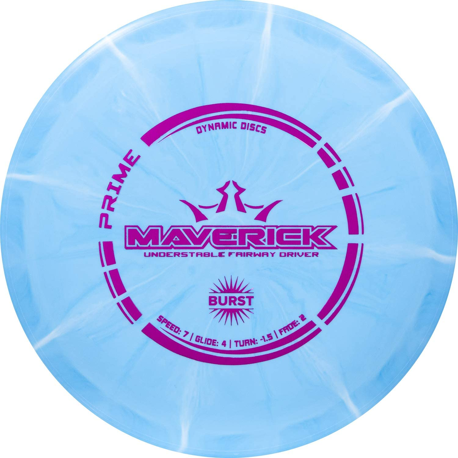 Dynamic Discs Prime Burst Maverick   Fairway Disc Golf Driver   Controllable and Versatile Frisbee Golf Disc   Beginner Friendly   170g Plus   Stamp Color and Burst Pattern Will Vary