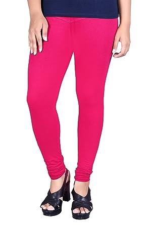 c447705e9cebc Dudis Lyca Women's Cotton Slim Fit Leggings (Bubble Gum) (XX-Large ...