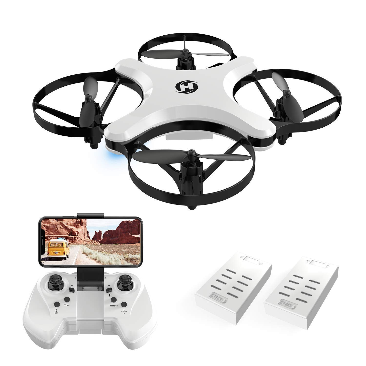 Foldable Arms Altitude Control Headless Mode White Touch Swift Holy Stone HS220 FPV Drone with HD Camera 720P RC Quadcopter Live Video WIFI APP Control Mini Drone for Kids and Beginners