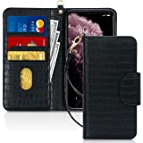 """FYY Case for iPhone 11 Pro Max 6.5"""", [Kickstand Feature] Luxury PU Leather Wallet Case Flip Folio Cover with [Card Slots] and"""