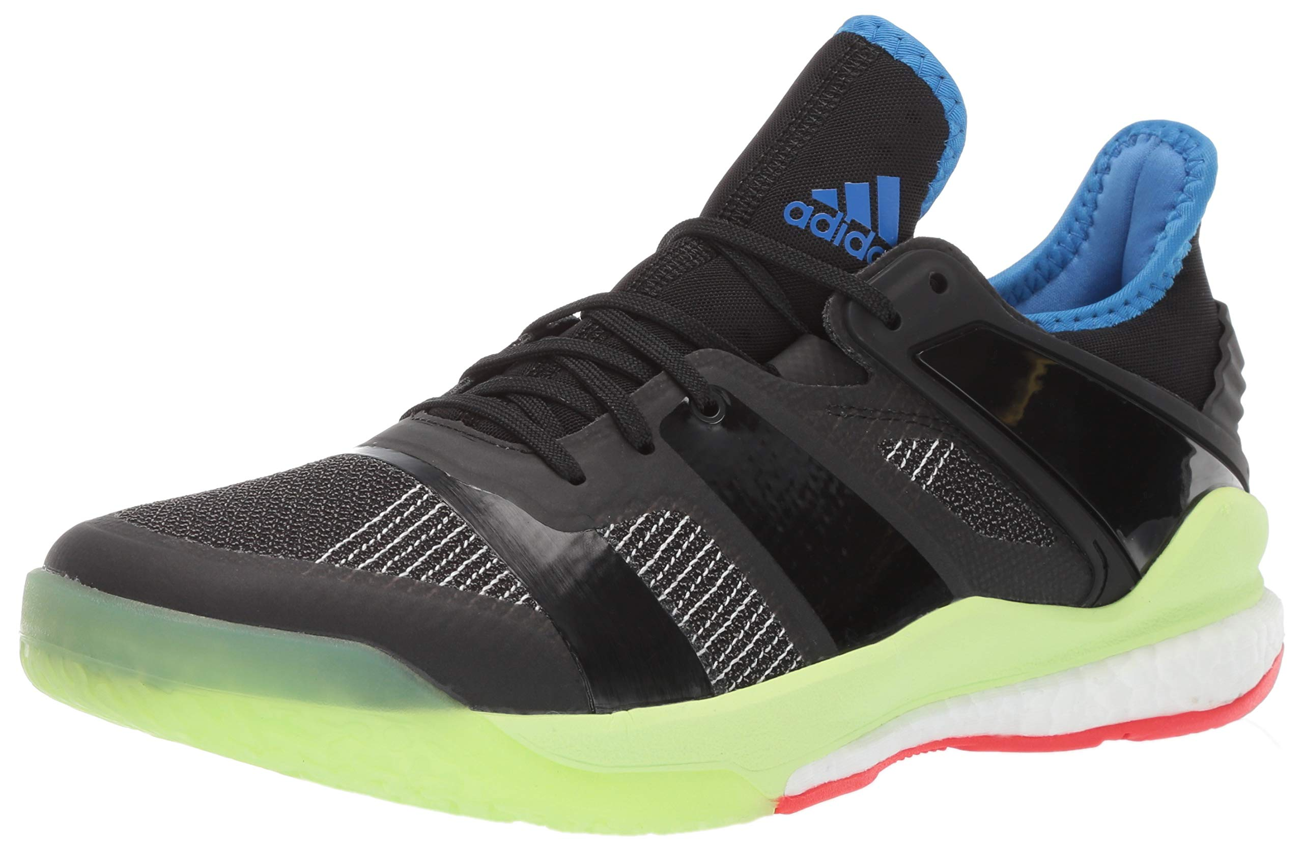 adidas Men's Stabil X, Black/Yellow, 8.5 M US
