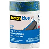 Scotch Painter's Tape Blue Pre-taped Painter's Plastic, Unfolds to 24 inches x 30 yards, PT2093EL-24