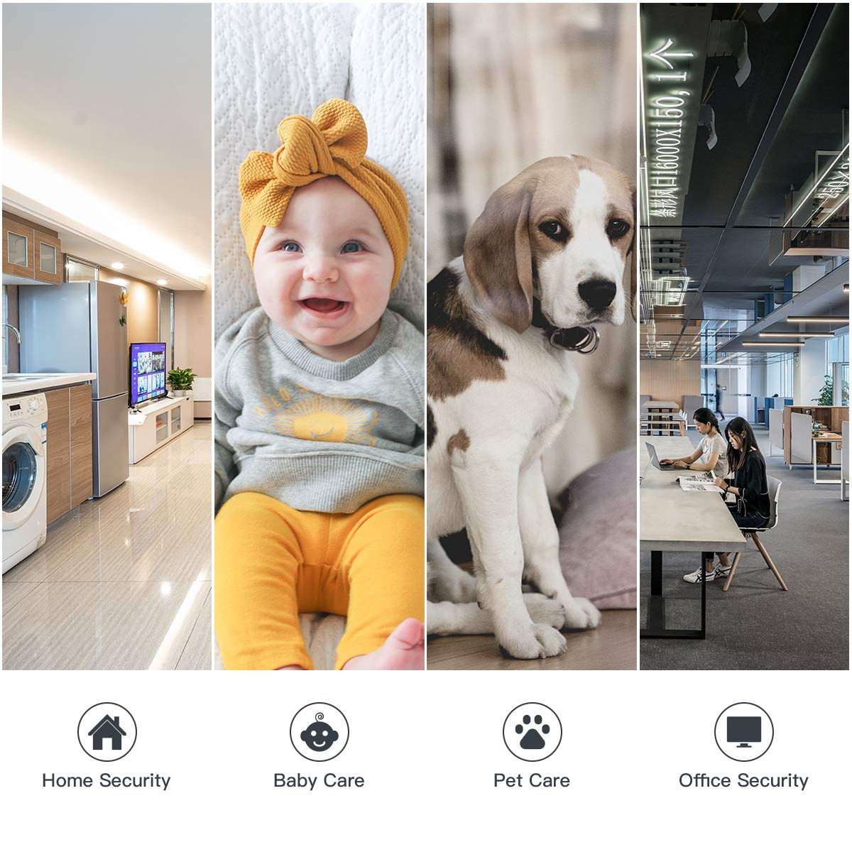 CACAGOO Video Baby Monitor with Camera and Audio, 2.4Ghz Security Wifi Camera, Home IP Camera with Night Vision/Motion Detection, Remote Monitor with iOS, Android App - Cloud Service Available by CACAGOO