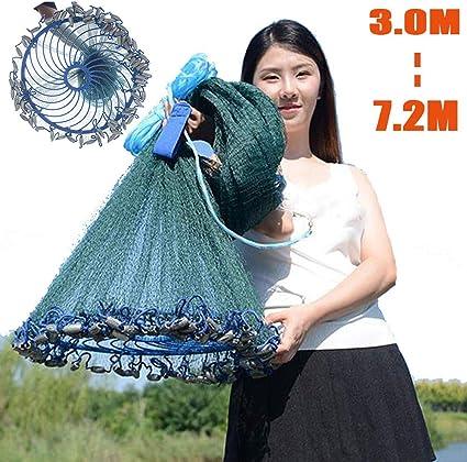 Zaoyun 3.0M-4.8M Fischernetz Manuell Verzinkter Anh/änger F/ür Wurfnetz Von Hand