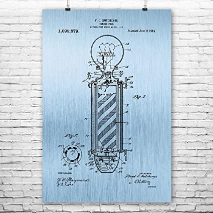 Barber Pole Poster Prints Barber Gift Hair Stylist Cosmetology Student