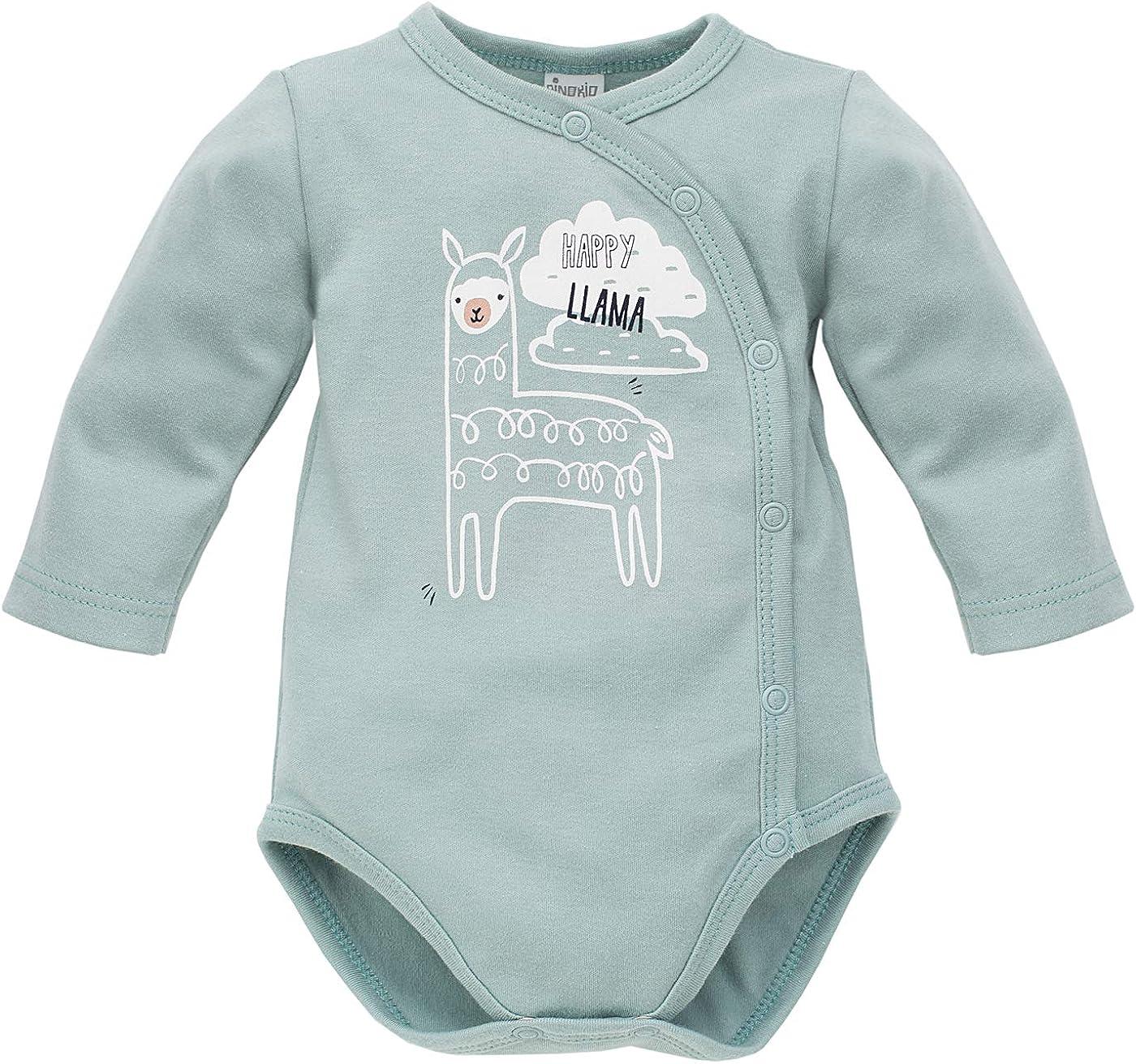Crema Pinokio Body a Manica Lunga 100/% Cotone Verde con Lama per Ragazzi Ragazze Unisex Bambini 56 62 68 74 cm Baby Body Happy Llama