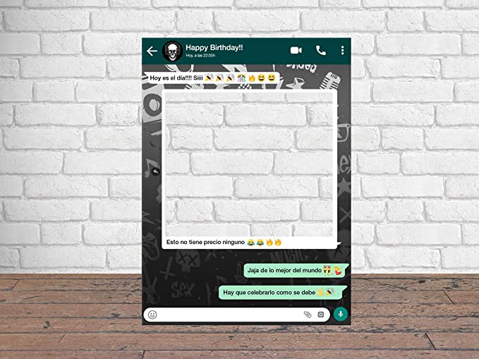 Photocall Feliz Cumpleaños Whatsapp 100 x80 cm | Regalos ...