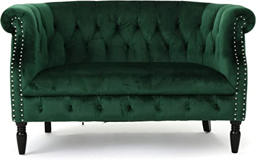 Melaina Tufted Chesterfield Velvet Loveseat