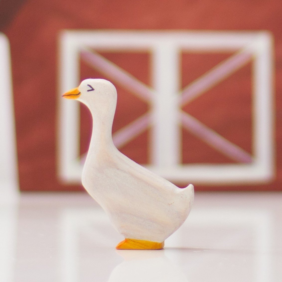 Wooden goose Toy gander Barn Yard Animals
