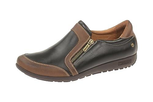 Pikolinos W67-6589 Black-Cuero - Mocasines de Piel Para Mujer, Color Negro, Talla 41: Amazon.es: Zapatos y complementos