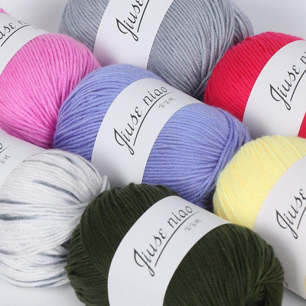 TAOtTAO - Ovillo de lana suave de algodón para tejer a mano, A, 50 g: Amazon.es: Hogar