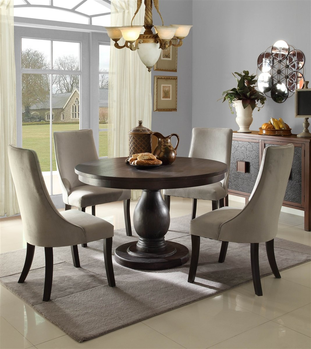 Amazon com  Dandelion 5 PC Dining Table Set by Home Elegance in Rustic  Brown  Kitchen   Dining. Amazon com  Dandelion 5 PC Dining Table Set by Home Elegance in