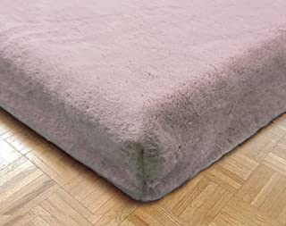 product image for Sherpa Sheets - Seal Fur Fitted Bed Sheet - Thick Pile Velvety Fleece… (Rosewater, Full)