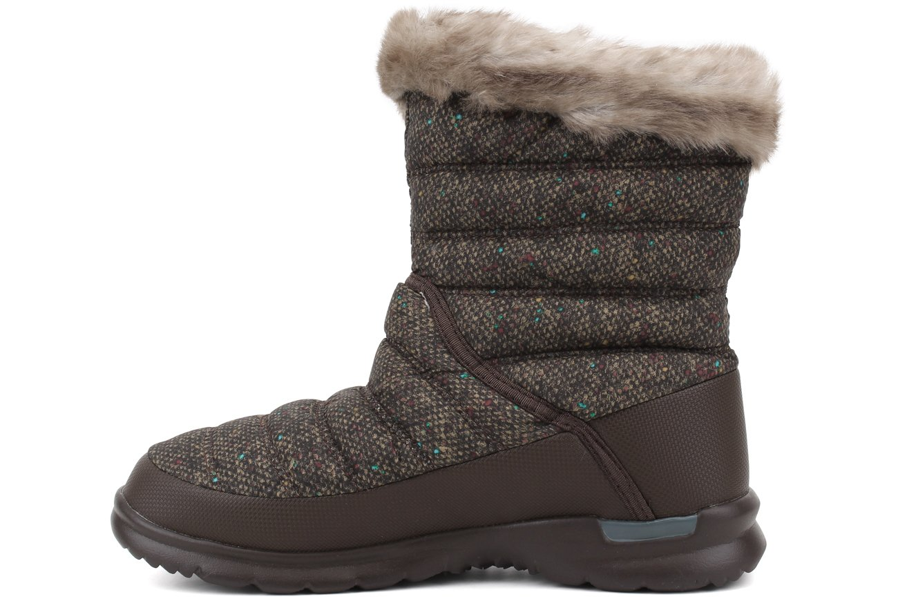 The North Face Womens Thermoball Microbaffle Bootie II B0195K4LK0 9 B(M) US|Tweed Print/Blue