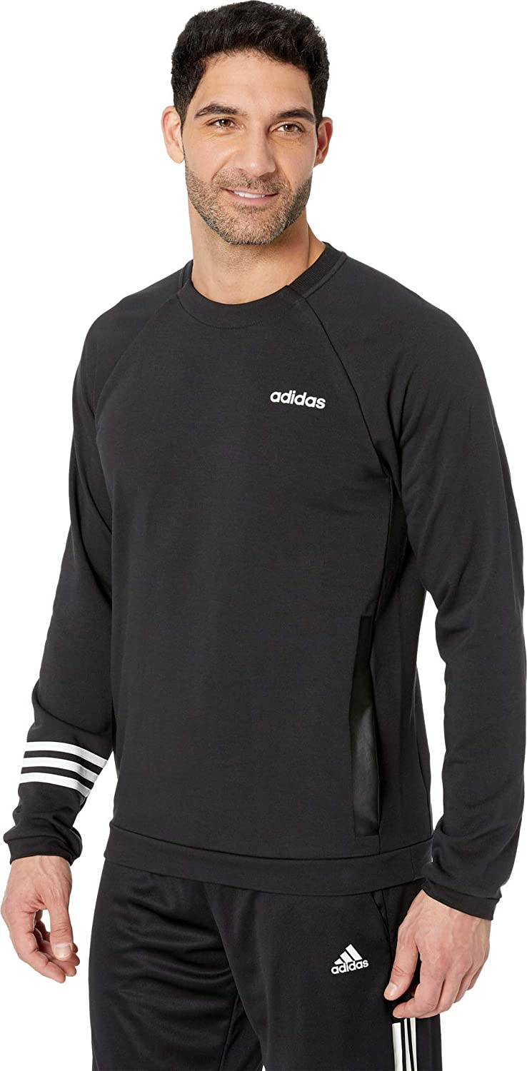 adidas Mens Essentials Motion Pack Fitted Crew Sweatshirt