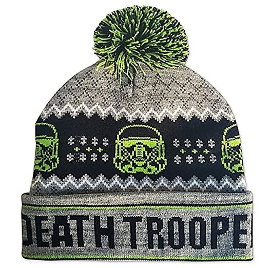 d1c719eff4d Image Unavailable. Image not available for. Color  Star Wars Death Trooper  Ugly Sweater Pom Beanie
