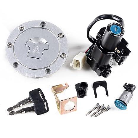 Amazoncom Set Fuel Gas Cap Ignition Switch Lock Key For Honda Cbr