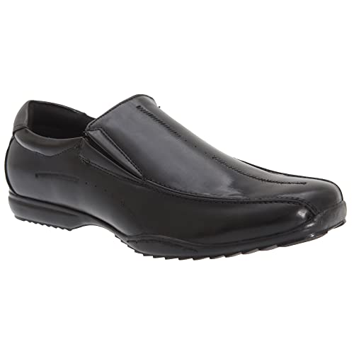 Us Brass - Zapatos de cordones de Material Sintético para hombre Negro negro, color Negro, talla 45