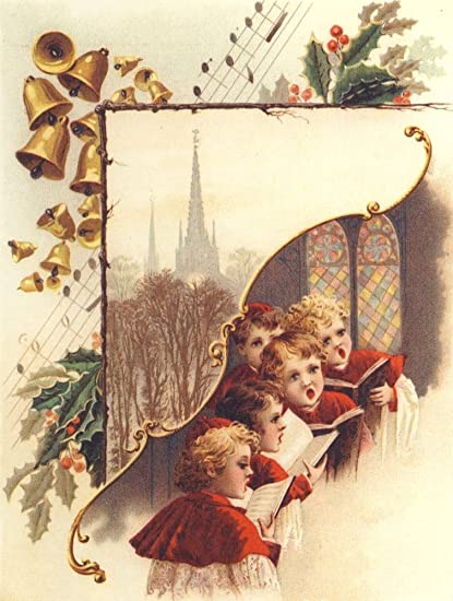 Christmas Card Artist.Amazon Com Christmas Card Choir Boys Church Unknown