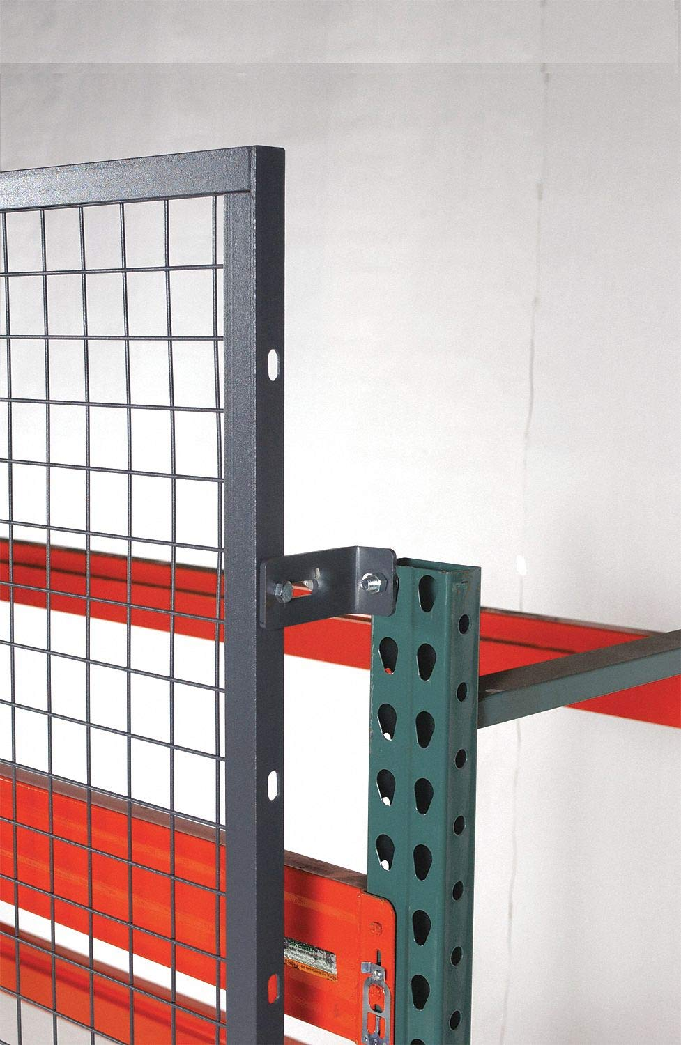 Gray Steel Aisle Guard Offset Mounting Clip
