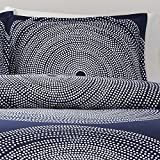 Marimekko 221441 Fokus Duvet Cover Set, King, Navy