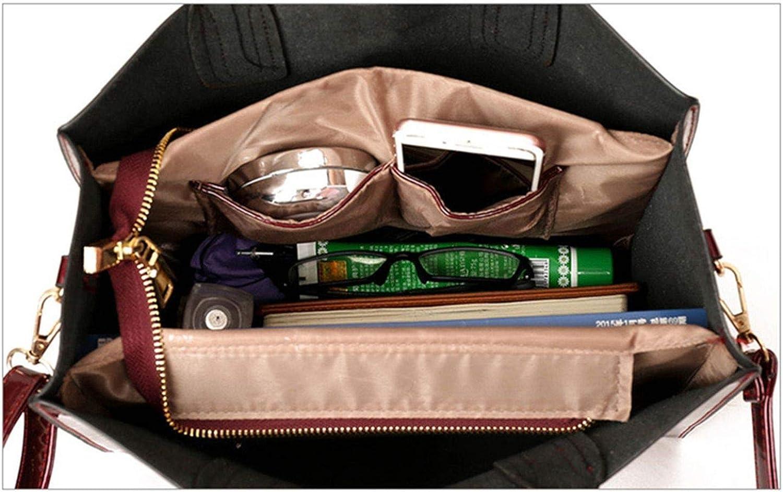 Brand 3 Sets Women Handbags Leather Femalesenger Bag Luxury Tote+Ladies Shoulder Crossbody Bag+Clutch