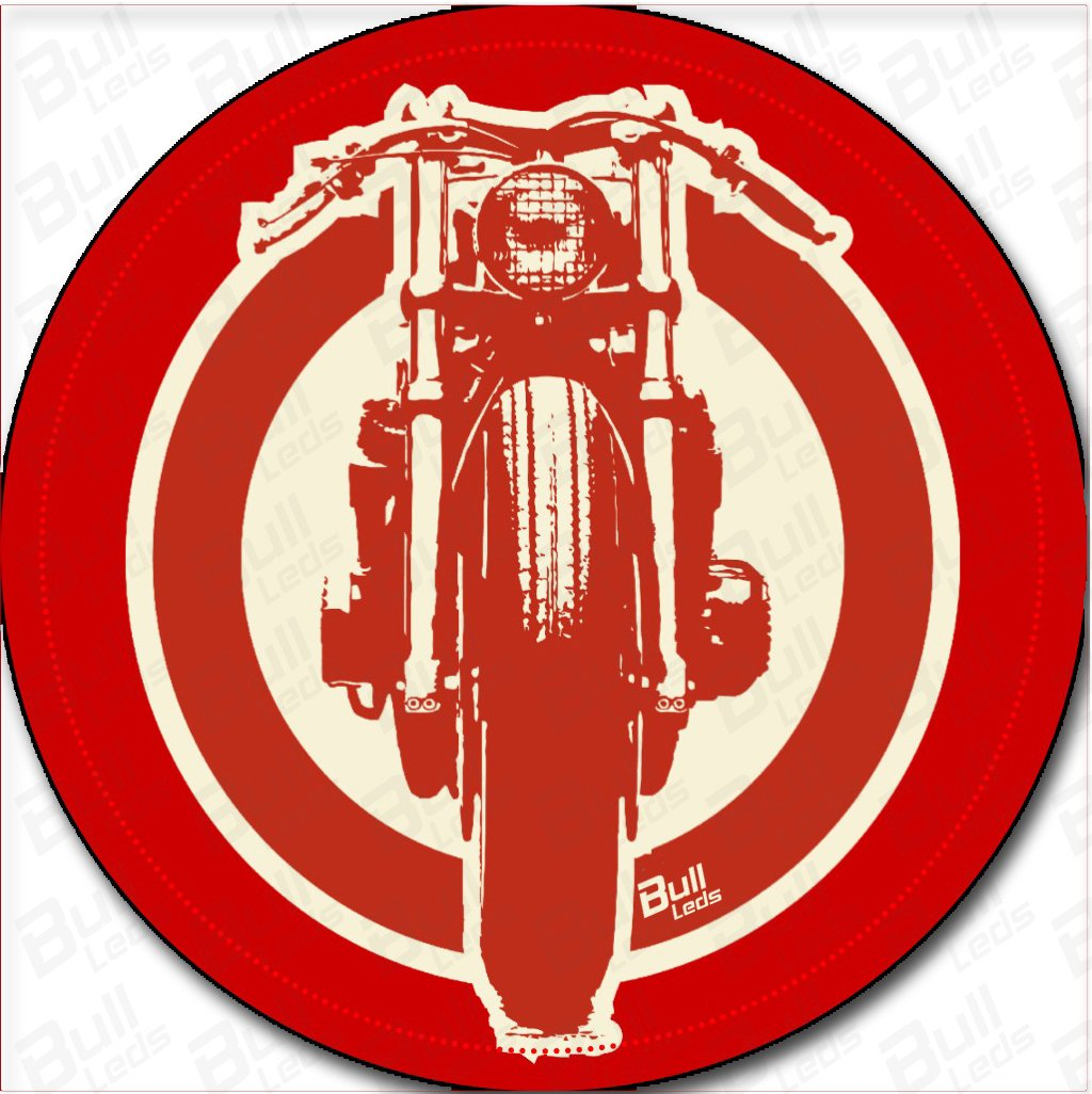 Bull leds prints hd stickers 2pcs x red bike amazon in car motorbike