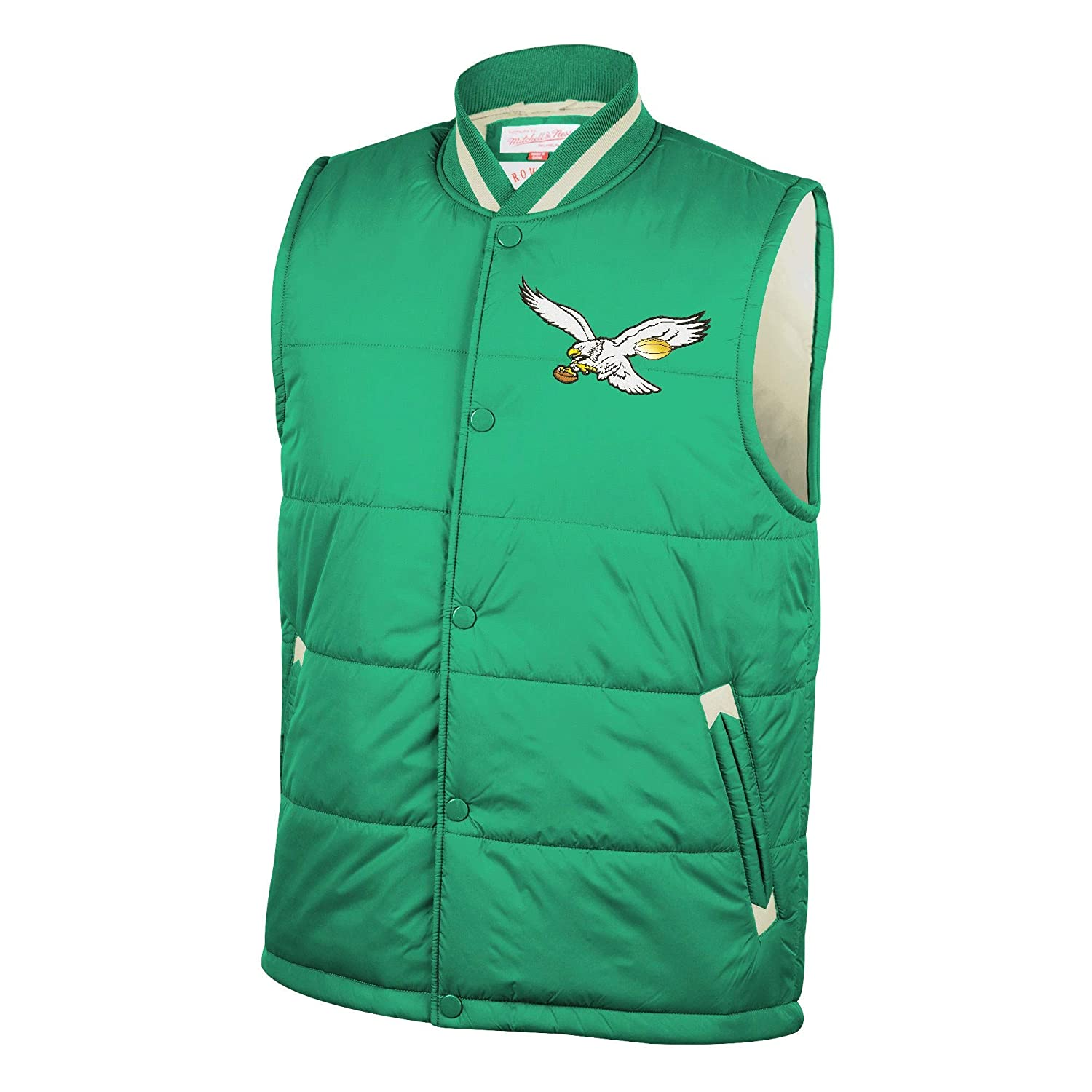 943524c218b Amazon.com   Mitchell   Ness Philadelphia Eagles Amazing Catch Vest - Green  (2XL)   Sports   Outdoors