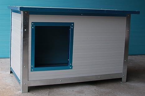 Caseta coibentata Media para perros de exterior/interior (L100 x P70 H70)
