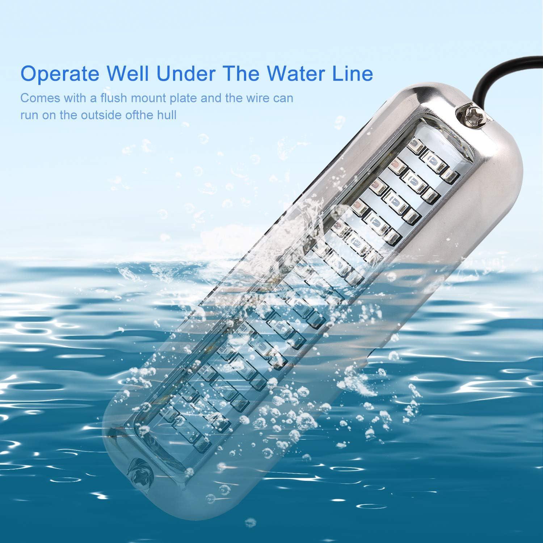 Fansport Bootsr/üCklicht Universal 42 LED Wasserdicht Bootslichtleiste Unterwasser LED Licht