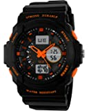 Jungen Jugendliche Kinder Digital Sportuhr - Multifunktion 50M Wasserdicht Elektronisch Sport Armbanduhr mit LED Beleuchtung Stoppuhr Timer Wecker für Kinderuhr Uhren