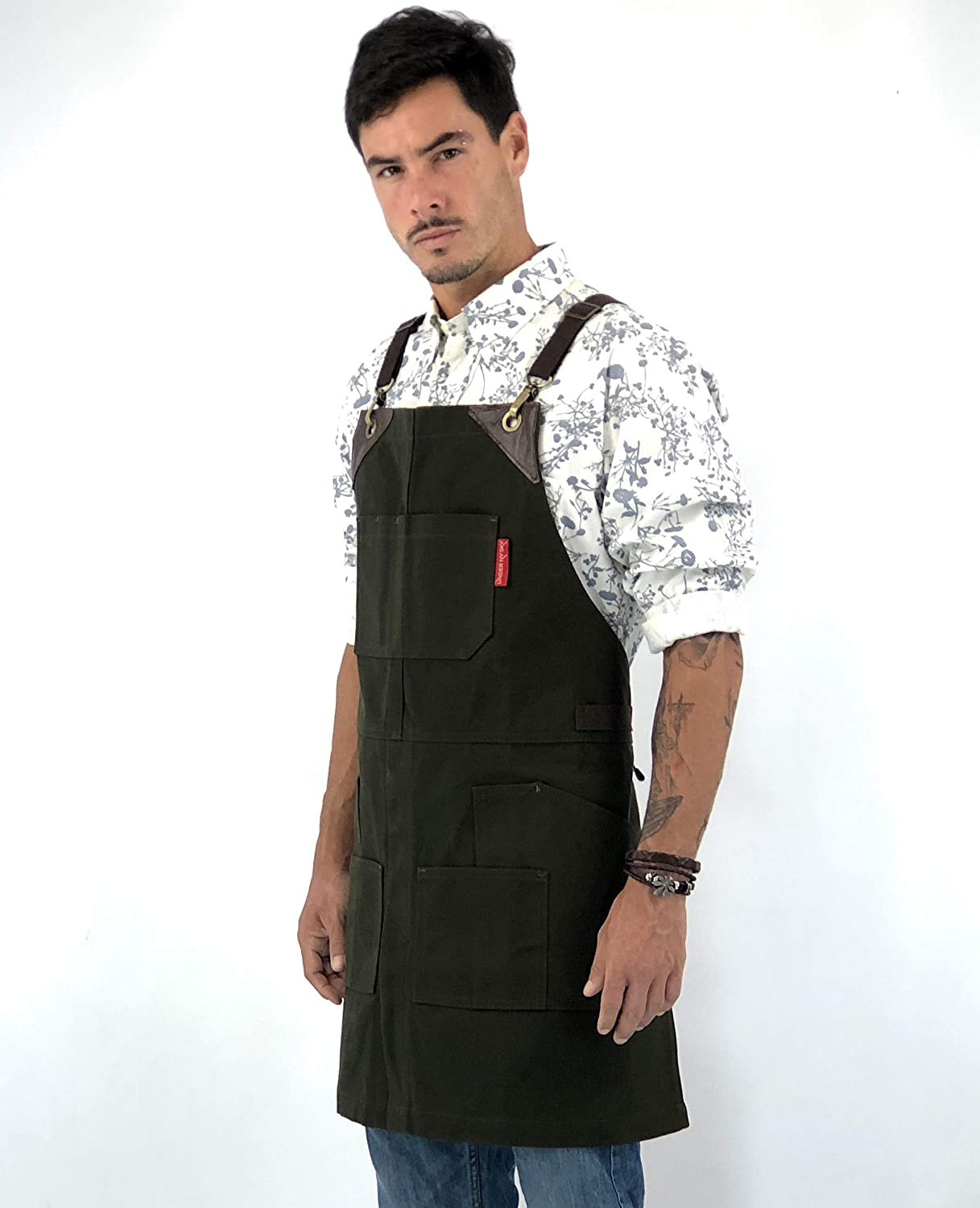 Under NY Sky Cargo Forest Green Apron