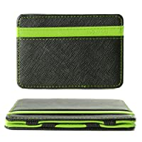 XCSOURCE Portafoglio Magico in simili cuoio - magic wallet Credit Card Holder - porta moneta -Verde