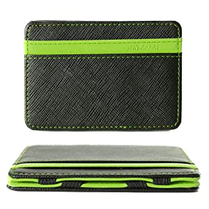 XCSOURCE Portefeuille magique Porte monnaie Porte-cartes de crédit Bourse Magic Wallet Billfold Vert MT179