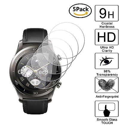 Guran [5-Unidades] Protector de Pantalla Vidrio Cristal Templado para Huawei Watch 2 Classic (Bluetooth) Smartwatch Cristal Vidrio Templado Film (9H, ...