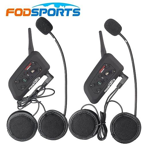 6 opinioni per Fodsports BT del casco del motociclo di Bluetooth Intercom altoparlanti della