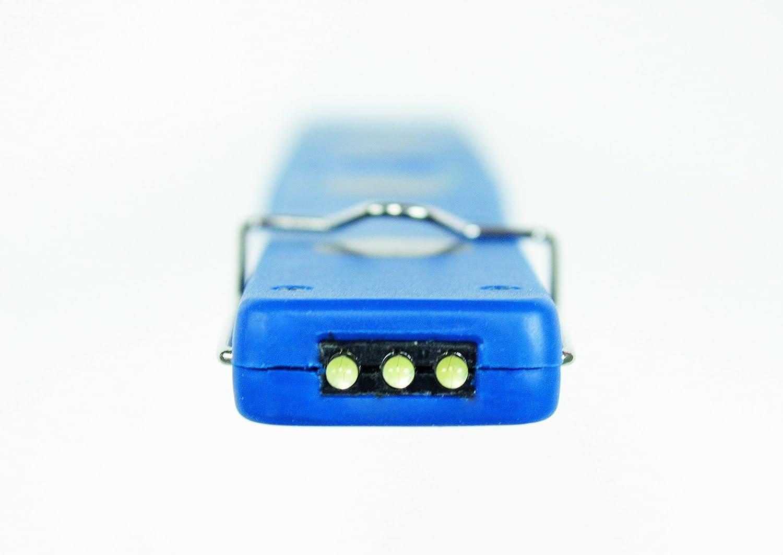 Schwabe 42820 LED Stablampe 230 V Blau 2 W 2 Watt Handlampe Li-Ionen Akku as