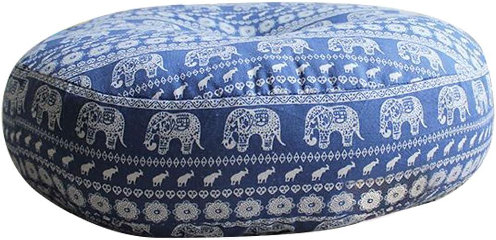 AB Crew Japanese Style Zafu Meditation Yoga Bolster Tatami Floor Round Cushion(Elephant,19.7