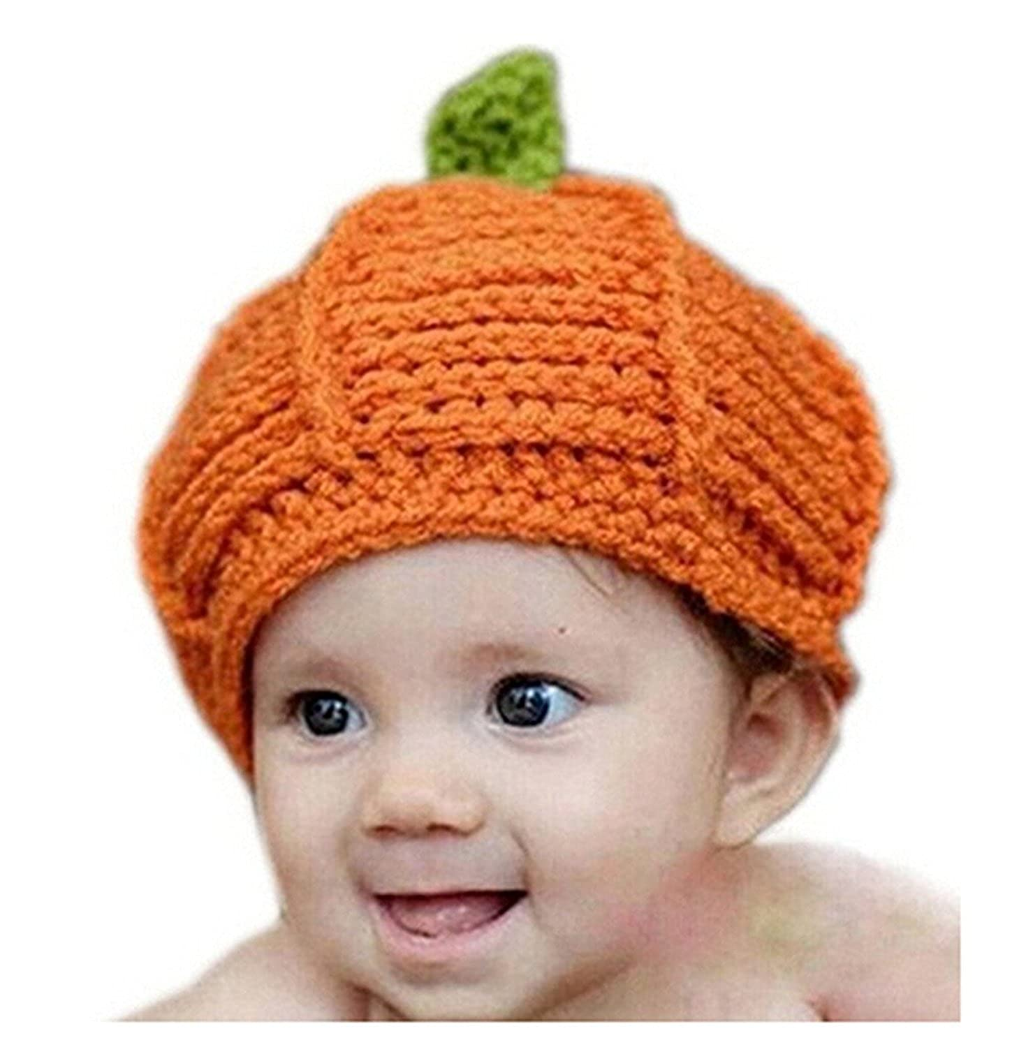 Tonsee® 1pc Pumpkin Cap Knit Hat for Baby Costume Photography Prop Suitable for 2-3 Years Old Baby