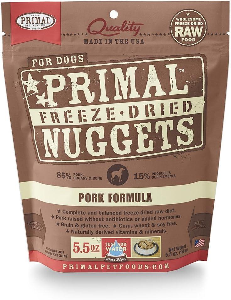 Primal Cpkfd5.5 Pet Foods Freeze-Dried Canine Pork Formula, 5.5 Oz.
