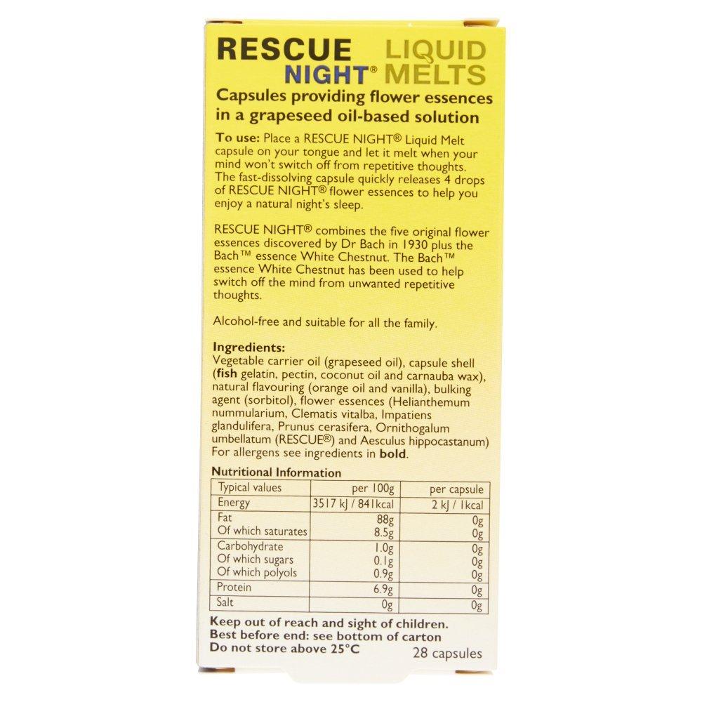 Rescue Night Liquid Melts 28 Capsules Amazon Health