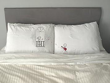 Amazon.com: Romeo y Julieta Funda de almohada Funny San ...