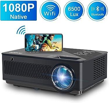 Proyector, FANGOR 6500 Lúmenes Full HD WiFi Proyector 1080P Nativo ...
