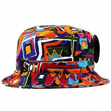 f4ad75d0eb4 KBETHOS African Kente Print Bucket Hat  Amazon.co.uk  Clothing