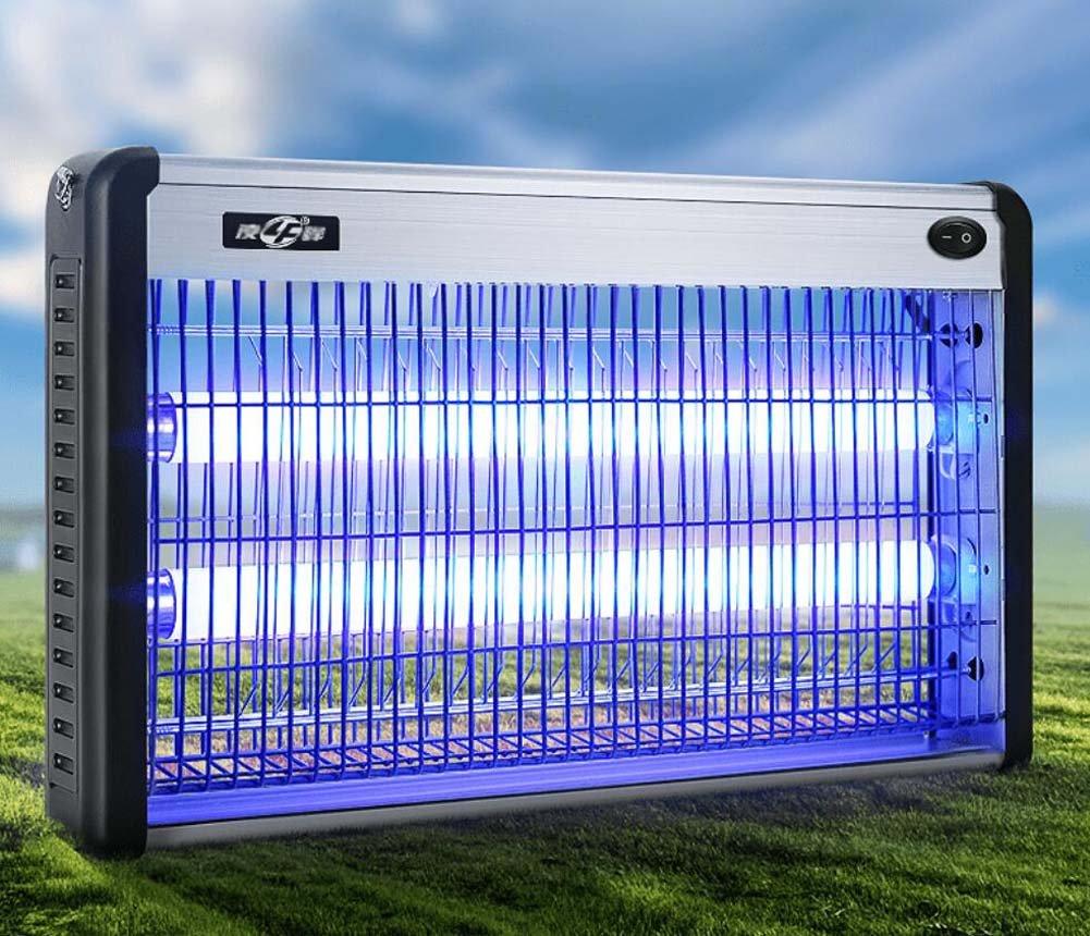 Handels-LED-Moskito-Mörder-Lampe, ultra-leisen keine Strahlung Photokatalysator-Moskito-Lampe, Aluminiumlegierung + ABS, doppelte Lampen-Rohr, purpurrotes Licht fliegt Moskito-Mörder, Wanzen-Zapper, weiß (schließen Sie Lampen-Rohr ei