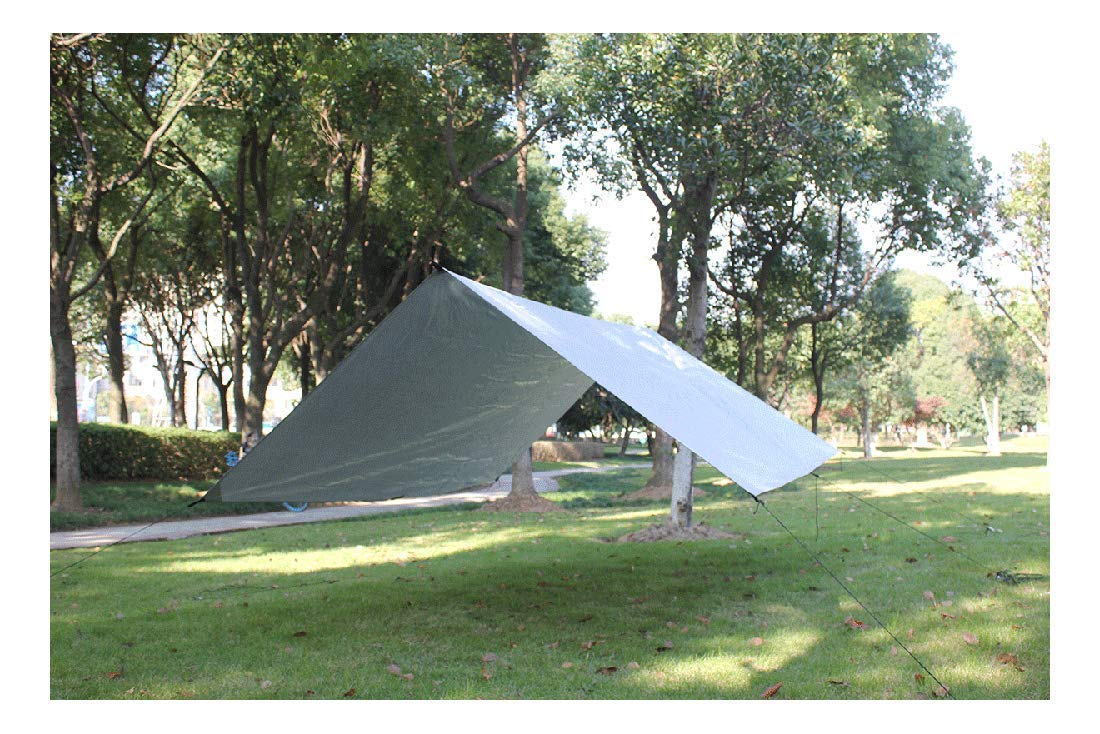 Grey Lightweight Camping Tent Tarp Shelter Mat Hammock Cover Waterproof Gear by Unknown