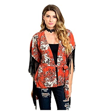 1094c80980ac Junior s Floral Print Kimono Top at Amazon Women s Clothing store