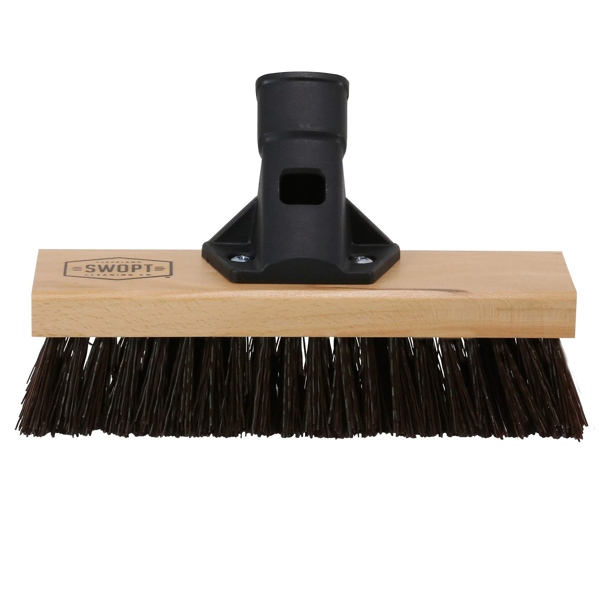 """SWOPT 10"""" Premium Rough Surface Deck Brush Head – Deck Brush for Heavy-Duty Scrubbing Rough and Textured Surfaces – Interchangeable with Other SWOPT Products for More Efficient Cleaning and Storage, Head Only, Handle Sold Separately, 5131C6"""